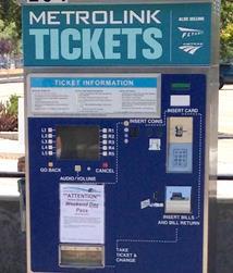 Metrolink ticket vending machine. [Image courtesy Wiki]