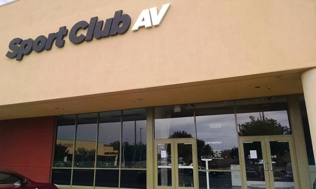 Sport Club AV, located at 1020 Commerce Center Drive in Lancaster, closed its doors in September.[Image courtesy LASD]