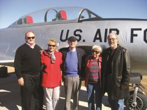 Davies Family at the T-33 dedication ceremony in 2008. [contributed]
