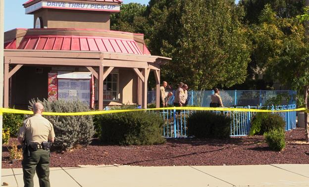 The shooting happened Monday, Oct. 17, at Rio's Burger in Palmdale. [Photo by LUIS MEZA]