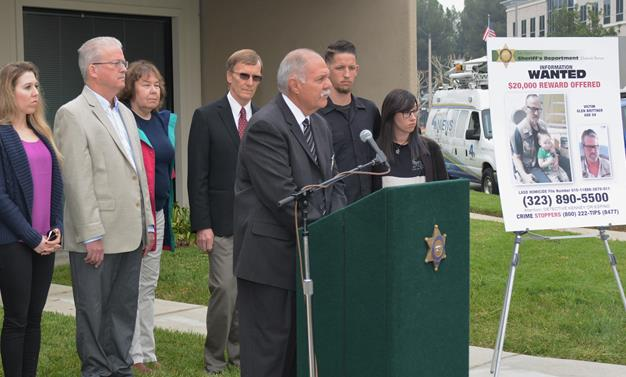 Authorities held a news conference Wednesday, Nov. 16, at the Sheriff's Homicide Bureau to appeal for public help in finding out who killed Glen Brittner. [Image courtesy LASD]