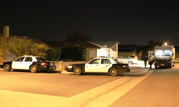 The incident was reported around 8 p.m. Tuesday in the 37300 block of 28th Street East. [Photo by LUIS MEZA]