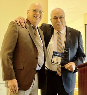 Len Engel (right) and Carl Sedoryk, Vice Chair, California Transit Association Executive Committee. [Contributed]