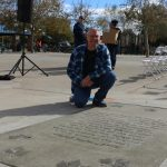 Mitchell Seyfer's winning poem was stamped in concrete at Marie Kerr Park. [contributed]