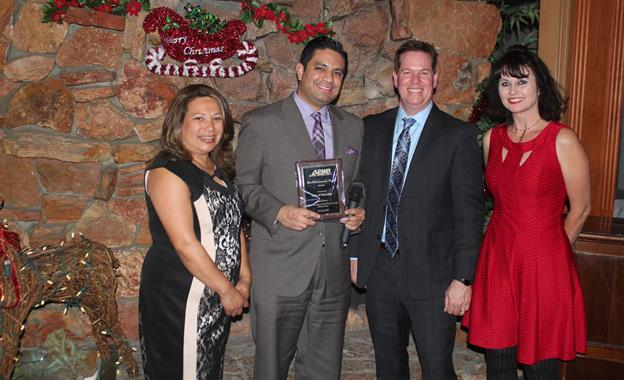 [L to R] Palmdale's SAVES Coordinator Patricia Morales, Senior Management Analyst Ben Lucha, Brian Glidden of Arrow Engineering and Management Analyst Kristin Holloway. [Contributed]