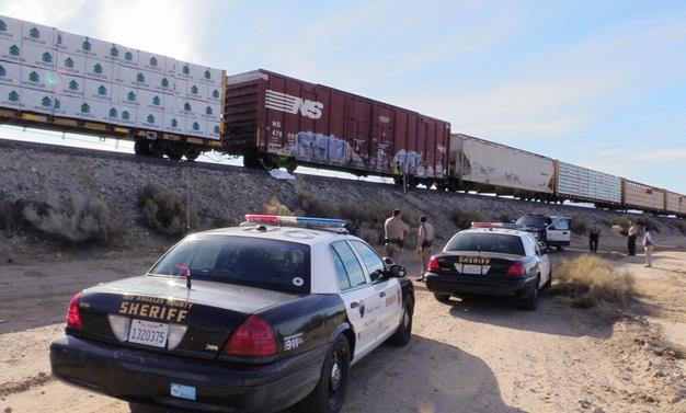 The victim was struck about 12:45 p.m. in the area of Avenue T and South 87th Street by a Union Pacific train. [Photo by LUIS MEZA]