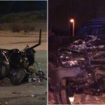 Motorcyclist killed in suspected DUI crash, driver arrested