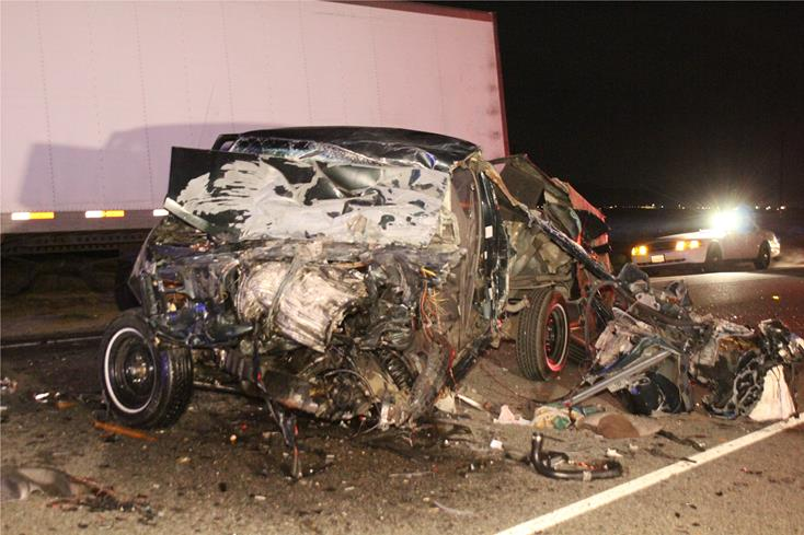 Pickup driver killed in head-on collision with big rig