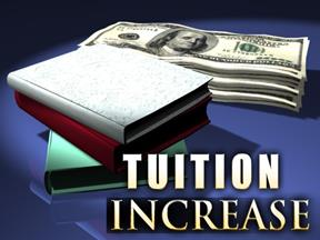 increase of tuition University tuition fees keep rising the canadian centre for policy alternatives predicts tuition fees in nova scotia will increase by 10 per cent over.