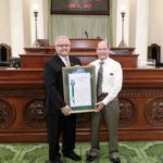 Michael J. Bertell honored as 'Veteran of the Year' by Asm. Lackey