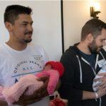 Newborn babies adorn red hats for heart health at AV Hospital