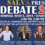 Bilingual debate for 25th Congressional District candidates this Sunday