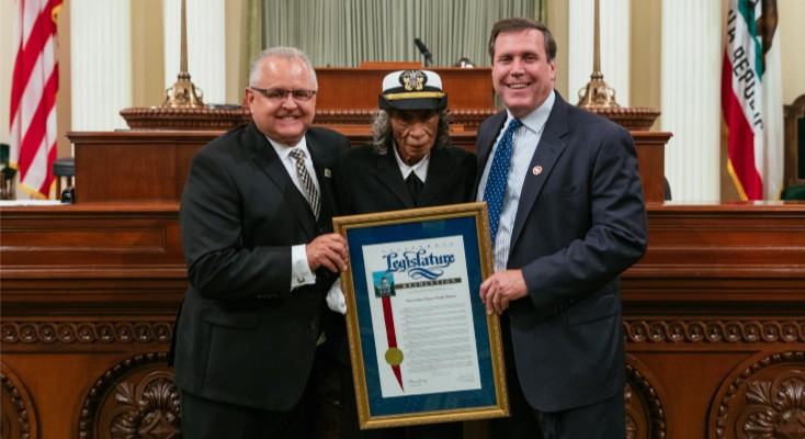Bolden honored as 'Veteran of the Year' by Assemblyman Lackey