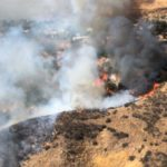 Brush fire scorches vegetation then spreads to structures in Santa Clarita