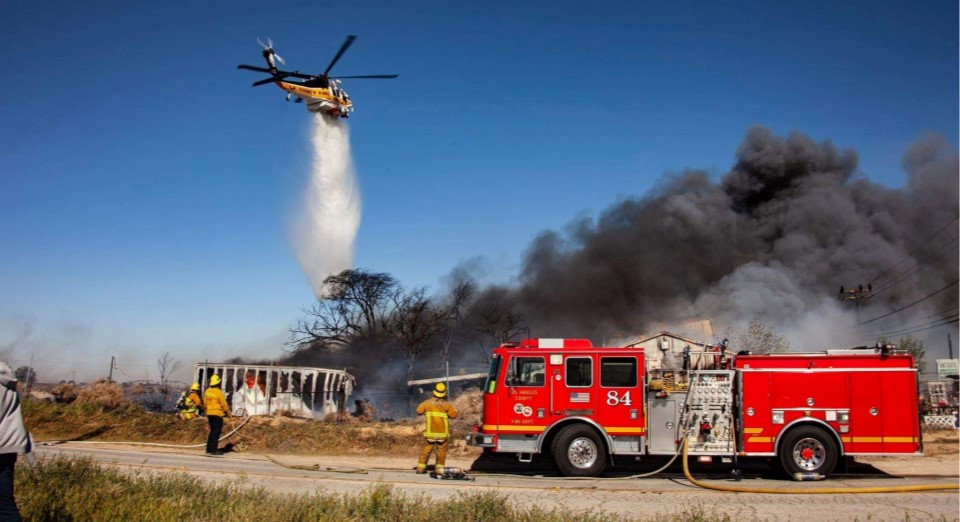 Wind Driven Grass Fire Ignites Antiques Store In Lancaster