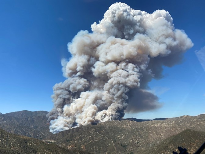 Blaze in Lake Hughes area of Los Angeles County rages, forces evacuations